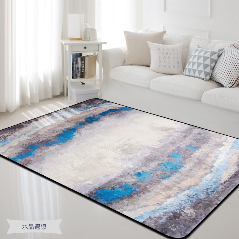 Extra Large Size 190*240CM and 190*280CM Blue Rug and Carpet for Home Living Room Sitting Room and Bedroom Bedside Floor Mat RugExtra Large Size 190*240CM and 190*280CM Blue Rug and Carpet for Home Living Room Sitting Room and Bedroom Bedside Floor Mat Rug
