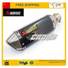 Modifiedl akrapovic de escape tubo de escape moto silenciador tubo de escape moto CBR YZF YBR TTR accesorios envío gratis