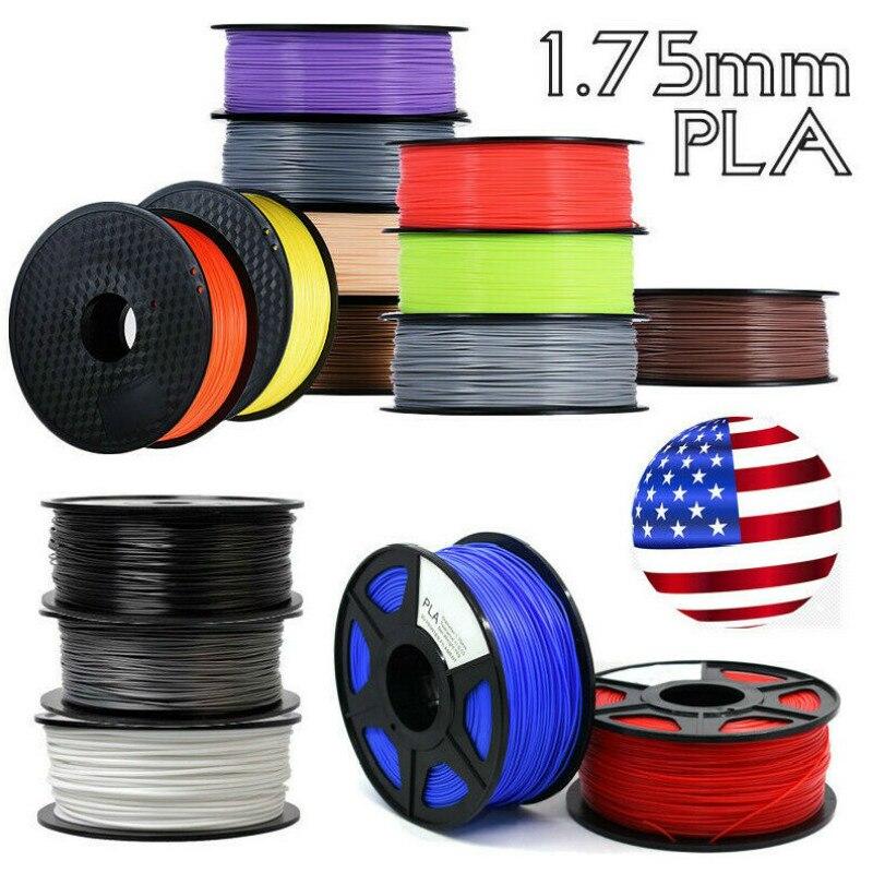 Cor branca 1.75 pla 3d printer filament EUA natural 3d filamento plástico China 3d pla filamento 1.75 milímetros 0.86 kg impressora 3d pla