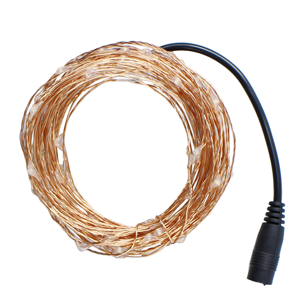 Waterproof Holiday LED String Light Copper Wire Starry Rope Flexible ...