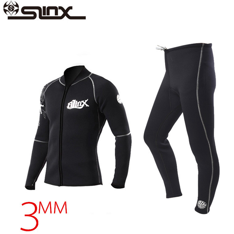 Slinx Professional 3MM Neoprene Diving Pants Jackets For Men Women Winter Swimming Rowing Sailing Surfing Wetsuit Suit