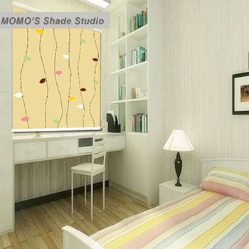 MOMO Roller Blinds Blackout Design Window Blinds Shades Painting Curtains Roller Shades Thermal Fabric Custom Size Alice 368