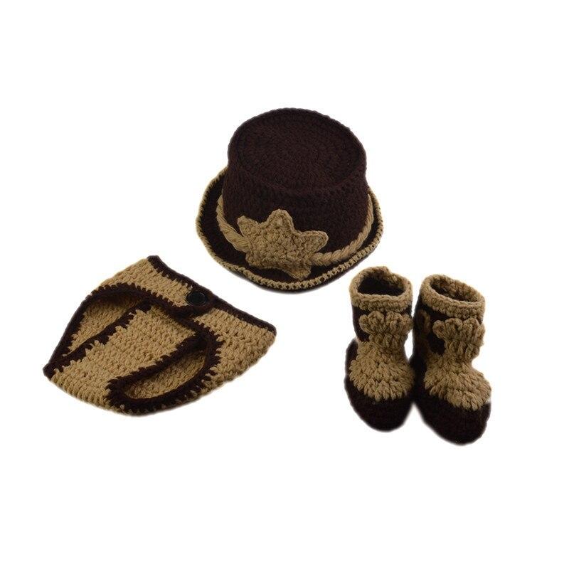 Clásicos niños del ganchillo del bebé recién nacido vaquero ...