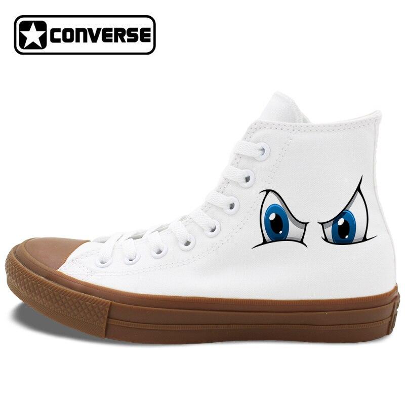 Prix pour Yeux de bande dessinée Conception Originale Converse Chuck Taylor II Unisexe Toile Sneakers 4 Différents Modèles Skateboard Chaussures