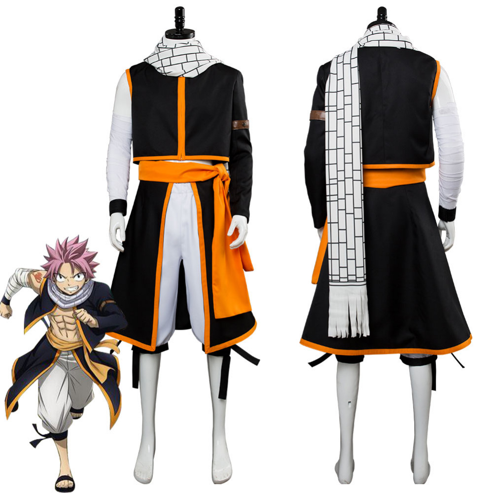FAIRY TAIL Etherious Natsu Dragneel Cosplay Costume custom made NEW