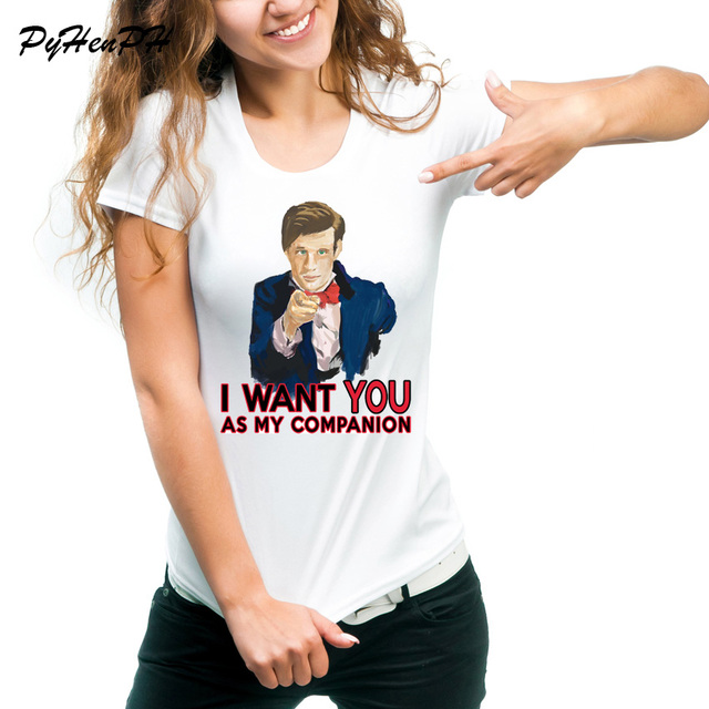daf1429aefce PyHenPH Brand T shirt women I Want You As My Companion Design Funny Cool  White Tee Shirt Femme tumblr Clothing