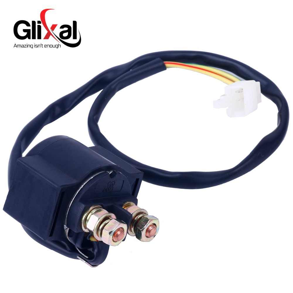 Glixal Starter Solenoid Relay for 139QMB 152QMI 157QMJ GY6 50cc 125cc 150cc Chinese ATV Scooter Moped Go Kart (18.5 inch-wire)