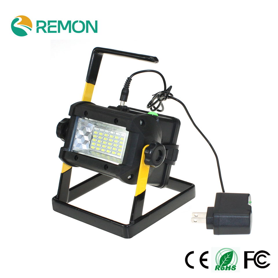 ФОТО High Power Outdoor LED Flood Lights Rechargeable 36 LED Floodlight Camping Work Lamp IP65 No include 4*18650 Battery