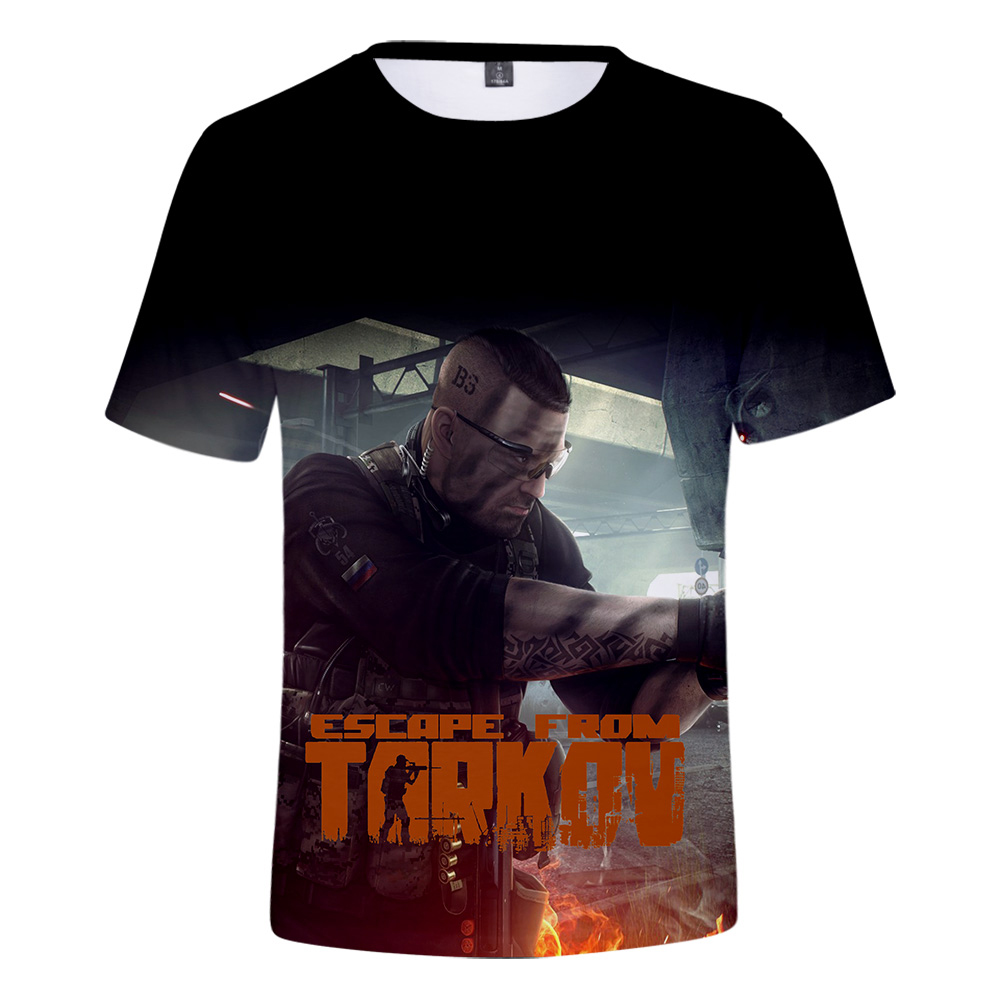2019 Fashion 3D t shirt Escape From Tarkov Men/Women T-shirt Escape From Tarkov 3D t shirt Short sleeve Summer Super Online Game