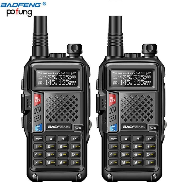 2 pcs BaoFeng BF-UVB3 Plus Talkie Walkie Puissant Jambon CB Émetteur-Récepteur Radio 8 w 10 km Longue Portée Radio De Poche pour forêt et ville