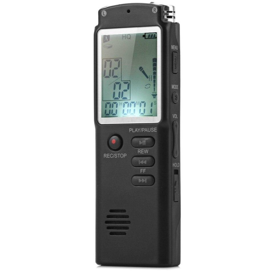 Haute qualité 2 en 1 T60 professionnel 8 GB LCD affichage du temps enregistrement numérique enregistreur Audio vocal Dictaphone lecteur MP3