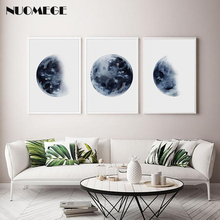Minimalist poster Moon Phase Wall art Canvas Painting Nordic Posters and Prints Decoration Pictures for Living Room Home Decor