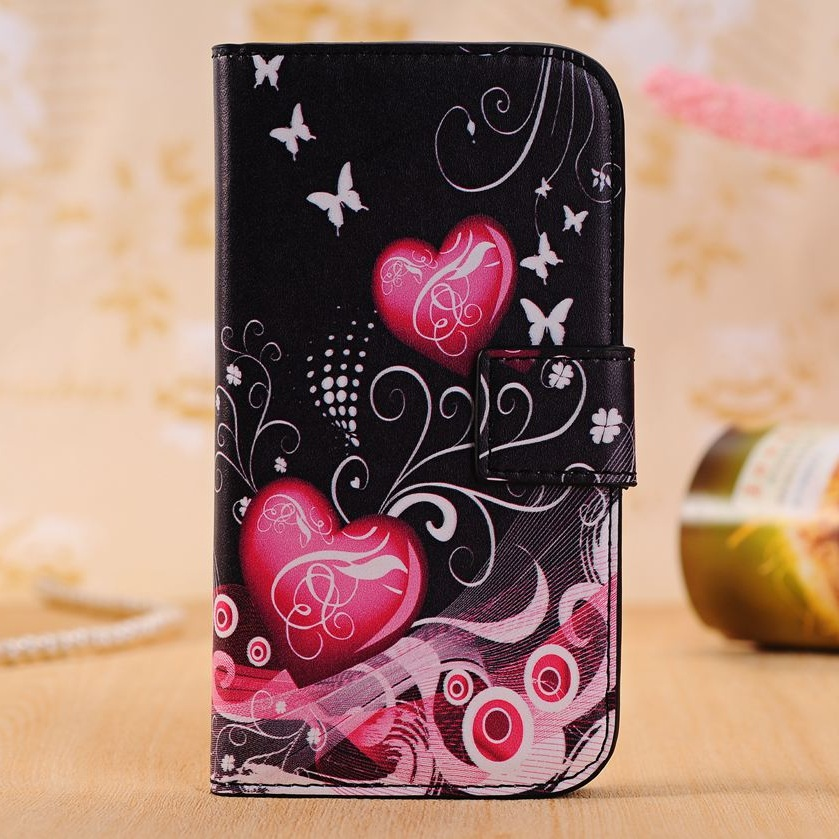 8cca1a6694a Leather Flip Cases For Samsung Galaxy Win Duos I8552 GT-I8550 I8558 I8552  Grand Quattro Back Cover ...