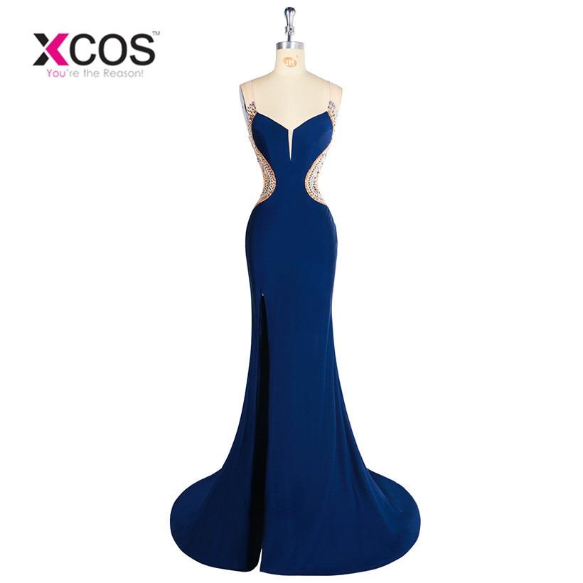 Sexy Royal Blue Long Elegant Mermaid   Prom     Dresses   2018 Evening   Dress   for   Prom   festa vestidos de para festa formatura longo
