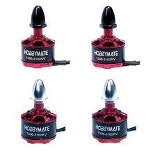 HOBBYMATE 1306 3100KV FPV Racer Brushless Motor CW CCW for Mini Racing Quadcopter Multirotors, Support 2-4S Lipo - Pack of 4