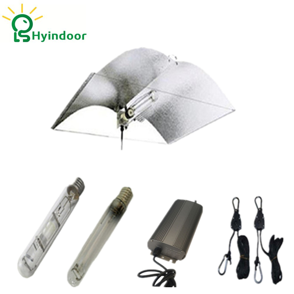 250W Grow Lights kit with Adjust-A-wing Reflector Lamp Covers Shades 250w grow light kits with adjustable a wing reflector
