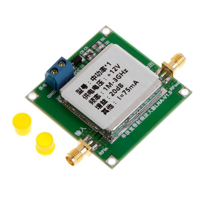 1-3000MHz 2,4 GHz 20dB LNA de RF banda ancha de bajo ruido amplificador módulo UHF HF VHF