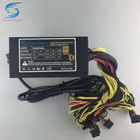 Free Ship 1600w Power Supply For 6 GPU Ethereum Miner Power Supply For Bitcoin Miners Support
