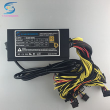 free ship 1600w power supply for 6 GPU ethereum Miner Power Supply For Bitcoin Miners support 6 graphics Card  RX470 RX480 RX570