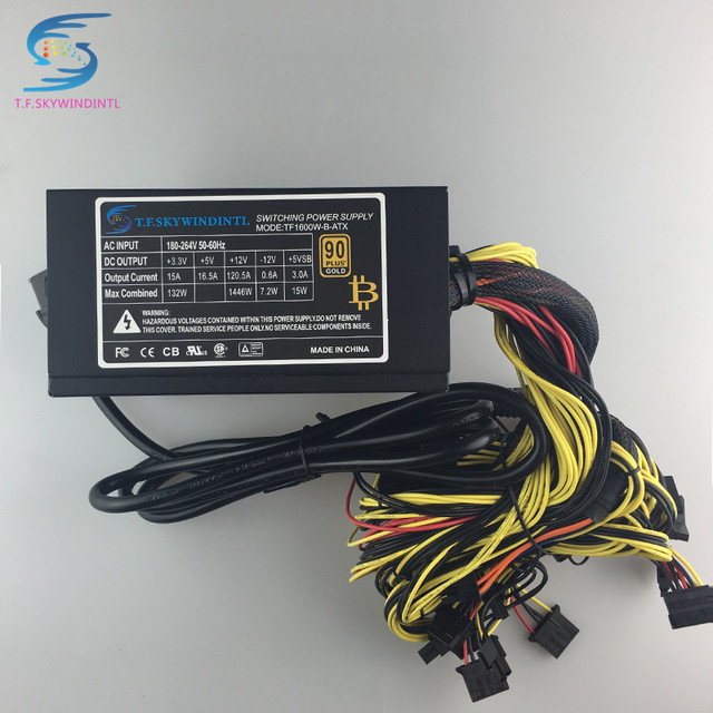 free ship 1600w power supply for 6 gpu ethereum miner power supply rh aliexpress com