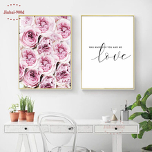900d Flower Poster Canvas Painting Wall Pictures For Living Room Scandinavian Style Cuadros Posters and Prints Art SAN067