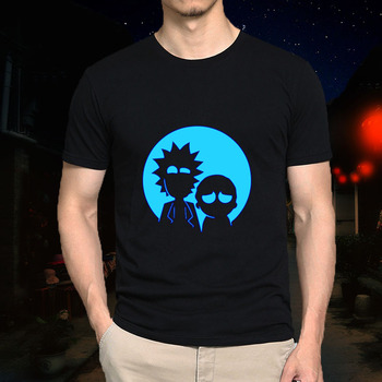 Rick and Morty Men Casual T-shirt (Glow in the Dark)
