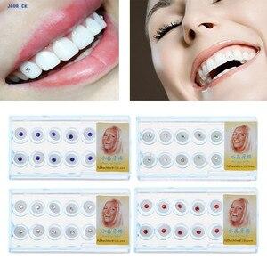 JAVRICK 10 шт./кор. 2 мм стоматологический цветной кристаллический зуб, модные украшения, драгоценные камни декор с коробкой