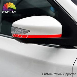Image 2 - Car Styling Reflective Waterproof Sticker Rearview Side Mirror Decal Stripe DIY Exterior Accessories For Toyota BMW BENZ