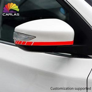 Image 2 - カースタイリング反射防水ステッカーバックミラーサイドミラーデカールストライプ DIY 外装アクセサリー BMW ベンツ