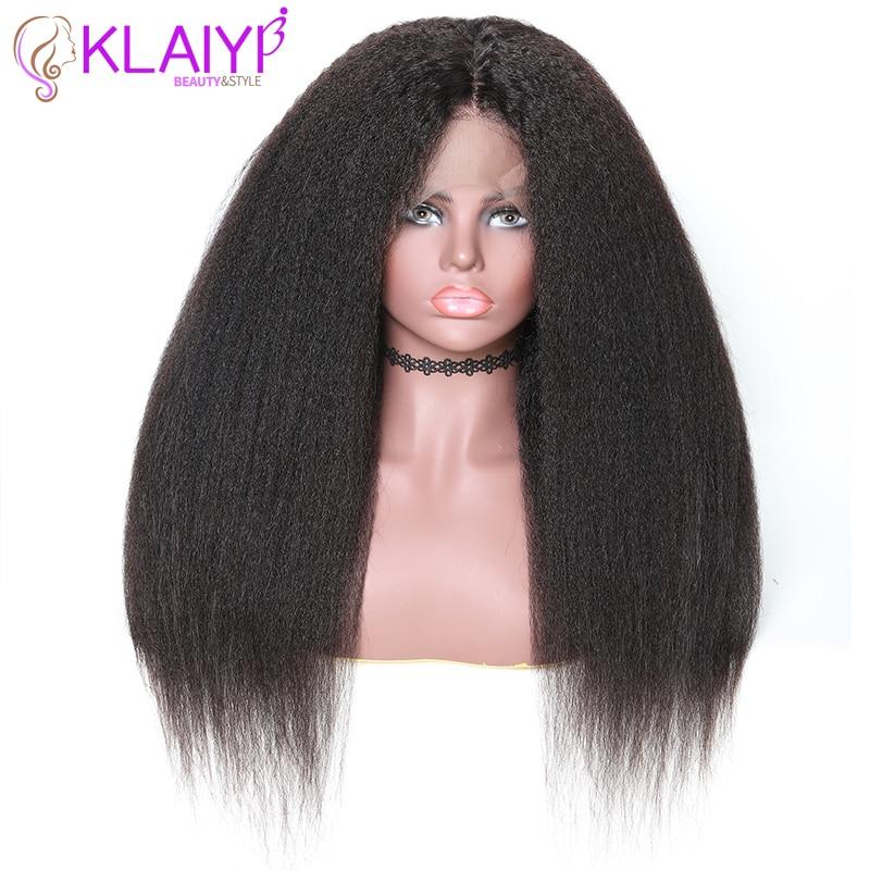 Klaiyi Hair Brazilian Kinky Straight Wig Human Hair 10 24 Inch 1 2 4 Natural Color