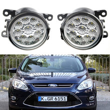 Auto Accessories Lighting LED Fog Lamps For Ford Tourneo Focus MK2 MK3 Fusion Estate Fiesta MK7 C-Max 2001~2015 Front Fog Lights