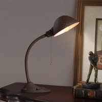 Industry Wind table lamps Desktop Bedroom Bedside Desk Lamp WROUGHT IRON Continuous Used Desk Read China Desk light ZA45500