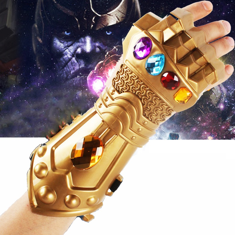 Hot LED Light Avengers Endgame Infinity Gauntlet Cosplay Iron Man Tony Stark Gloves Costume Male Toy  Stress Relief