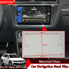 QCBXYYXH Car Styling GPS Navigation Screen Steel Protective Film Control Of LCD Screen Stickers For Volkswagen