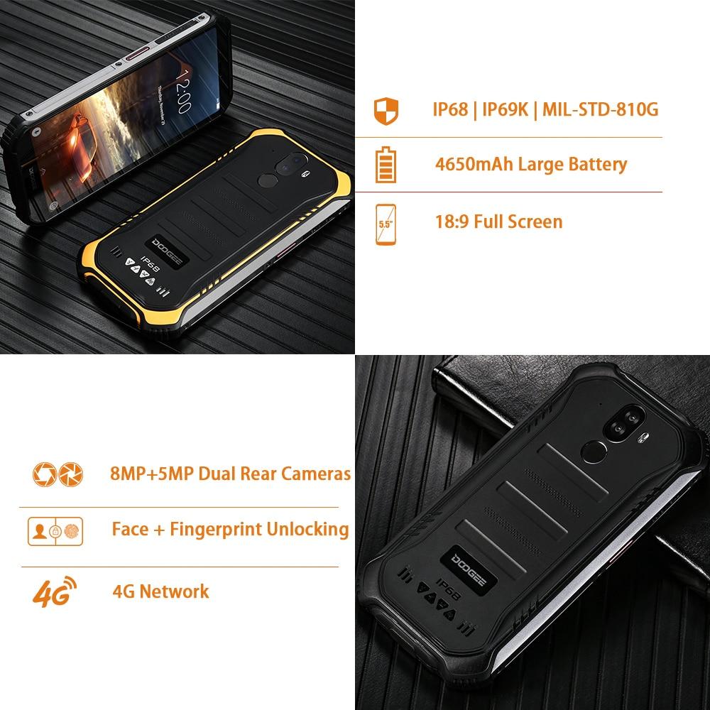 DOOGEE S40 4GNetwork Rugged Mobile Phone 5 5inch Display 4650mAh MT6739 Quad Core 3GB RAM 32GB DOOGEE S40 4GNetwork Rugged Mobile Phone 5.5inch Display 4650mAh MT6739 Quad Core 3GB RAM 32GB ROM Android 9.0 8.0MP IP68/IP69K