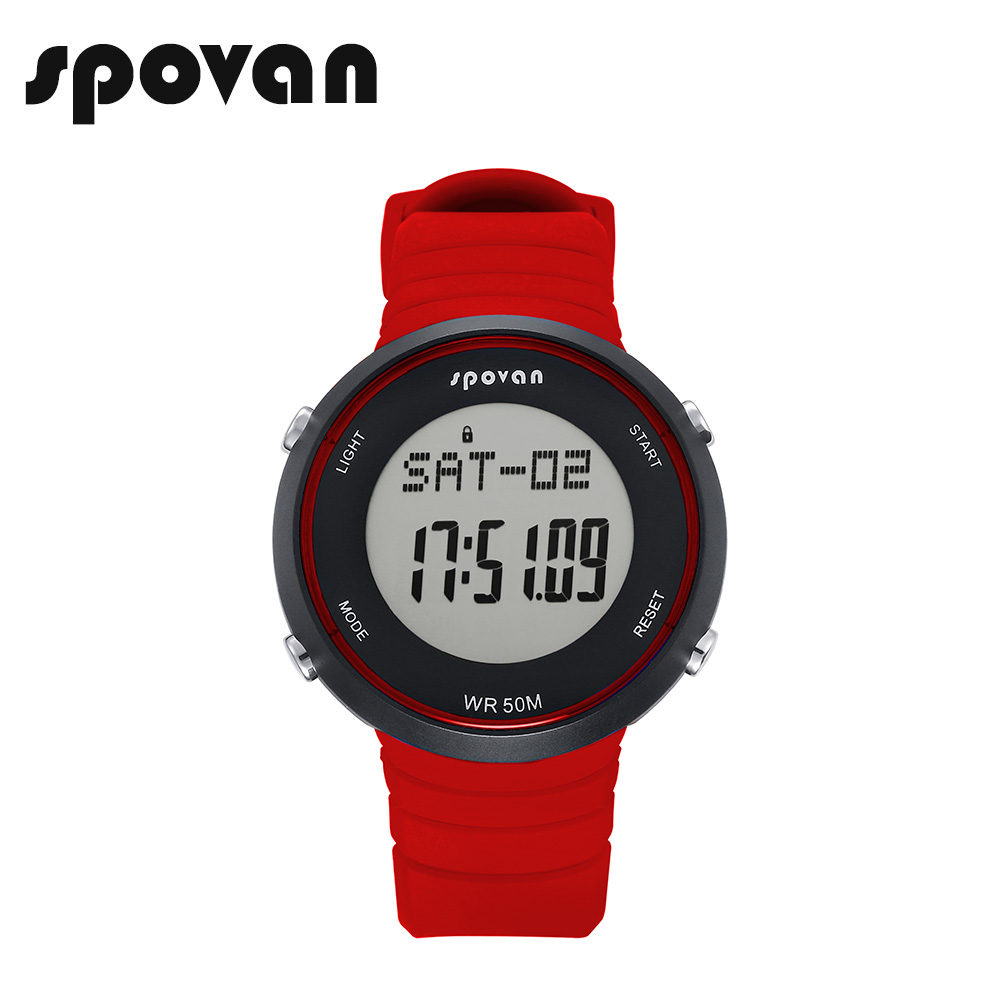 SPOVAN SPV900g Smart Sports Watches for Women, Sport Watch for Men Digital LED Watch Heart Rate Monitor (Free Heart Rate Belt)