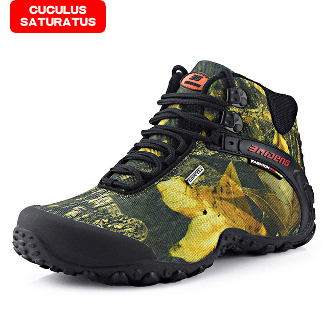 BAIDEN fashion outdoor climbing hiking boots waterproof men boot new style outdoor mountain trekking shoes hunting boots 8069
