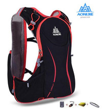 AONIJIE Men Women Outdoor Sport Running 5L Backpack Marathon Hydration Vest Pack For 1.5L Water Bag Cycling Hiking Bag