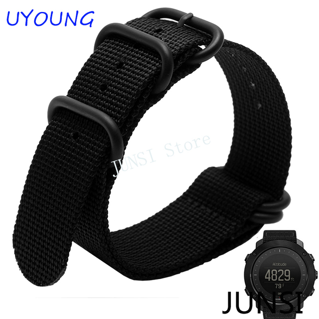 For Suunto Traverse Series Nato Nylon Long Watch band 5 rings Nylon Strap outdoors Smart watches accessories