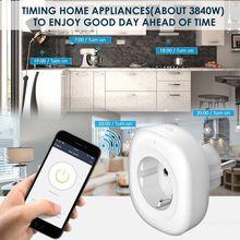 Cargador inteligente wifi monitor de alimentación Enchufe europeo 220 V 16A interruptor de sincronización de control de voz para Amazon Alexa/Google asistente