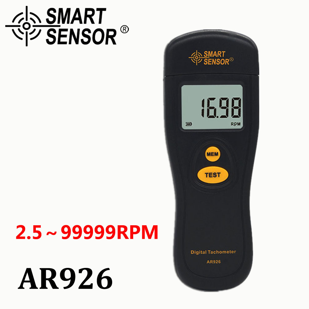 Digital Tachometer Rotational Speed Meter Tach RPM Tester Motor LCD Non-Contact photoelectric Speedometer Measuring 2.5~99999RPM цена