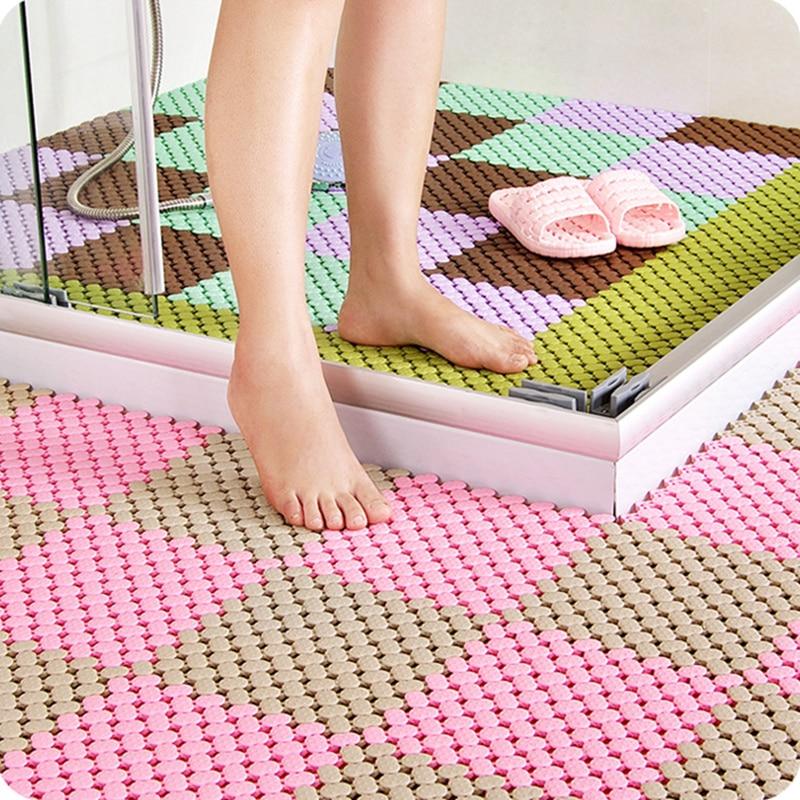 New Removable Diy Splice Bath Mat Non Slip Massage Shower