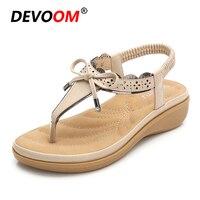 65738fb95f Fashion Women Summer Sandals Bowknot Ladies Sandal Women Summer Shoes  Breathable Comfortable Cork Sandale Femme Boho. Mulheres da moda Sandálias  ...