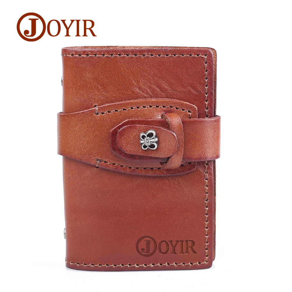 JOYIR Genuine Leather credit card holder butterfly purses wallet slim card case small pocket for female
