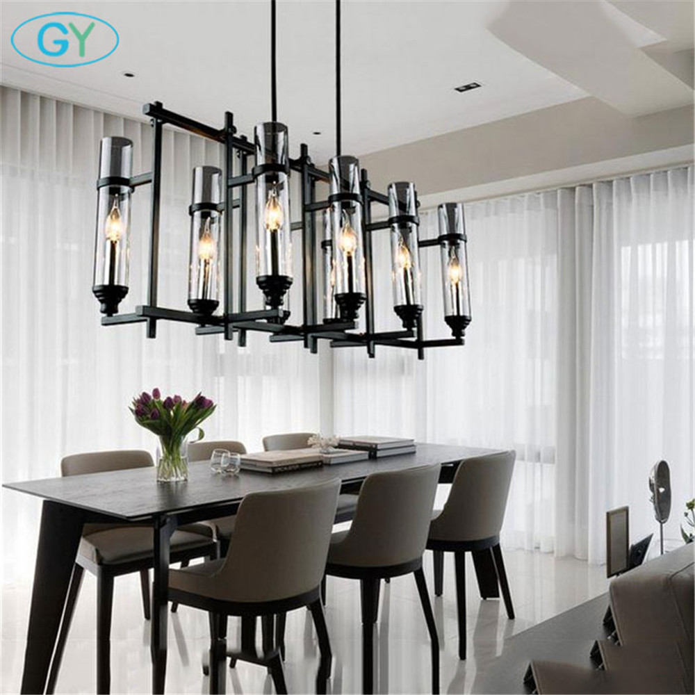 Contemporary Dining Room Chandeliers: 110V 220V American Industrial Art Vintage Glass Candle