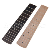 Kmise Different 21 Inch Soprano Ukulele Fretboard Fingerboard 15 Frets Rosewood Maple Set Of 2
