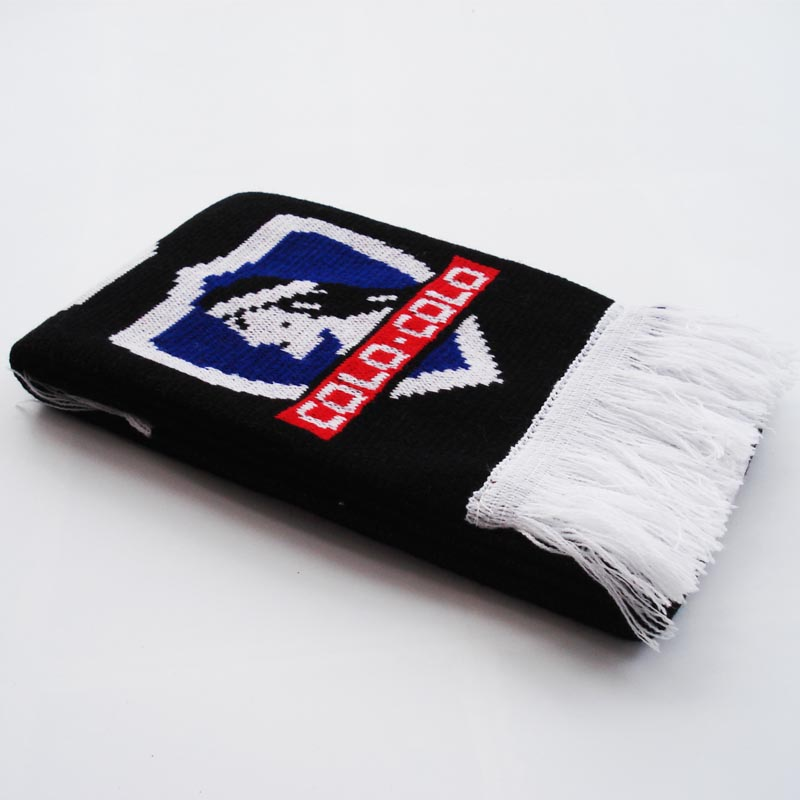 club social y deportivo colo colo knitting jacquard footall scarf knitted soccer scarffootball - Free Colo