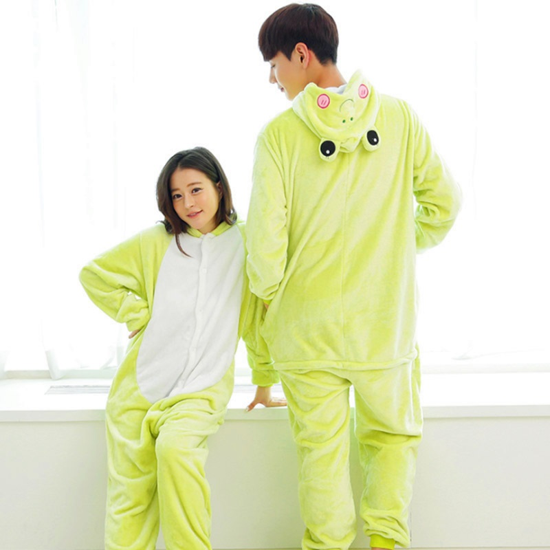 Detail Feedback Questions about Parent child outfit female household  conjoined animal cartoon frog fall and winter long sleeve big yards coral  fleece ... 75e296f97