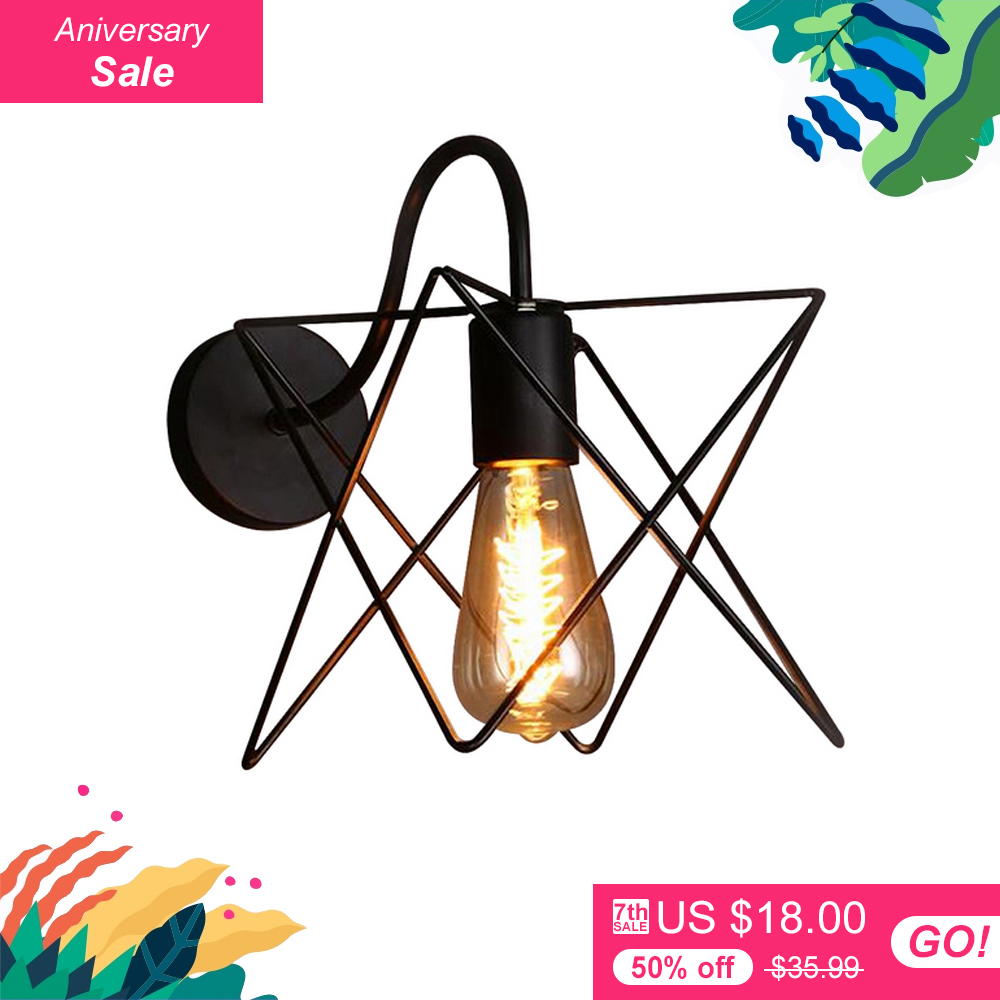 American country Vintage retro lights wall lamps metal pomelo cage lampshade Indoor lighting Bar and restaurant