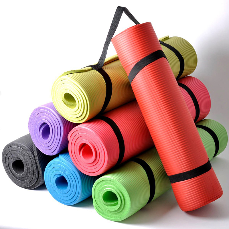 Yoga Anti Slip sport Mat Non Slip Fitness Mat Thick Cushioned Pilates and Yoga Mat 182cm x 60cm x 16mm